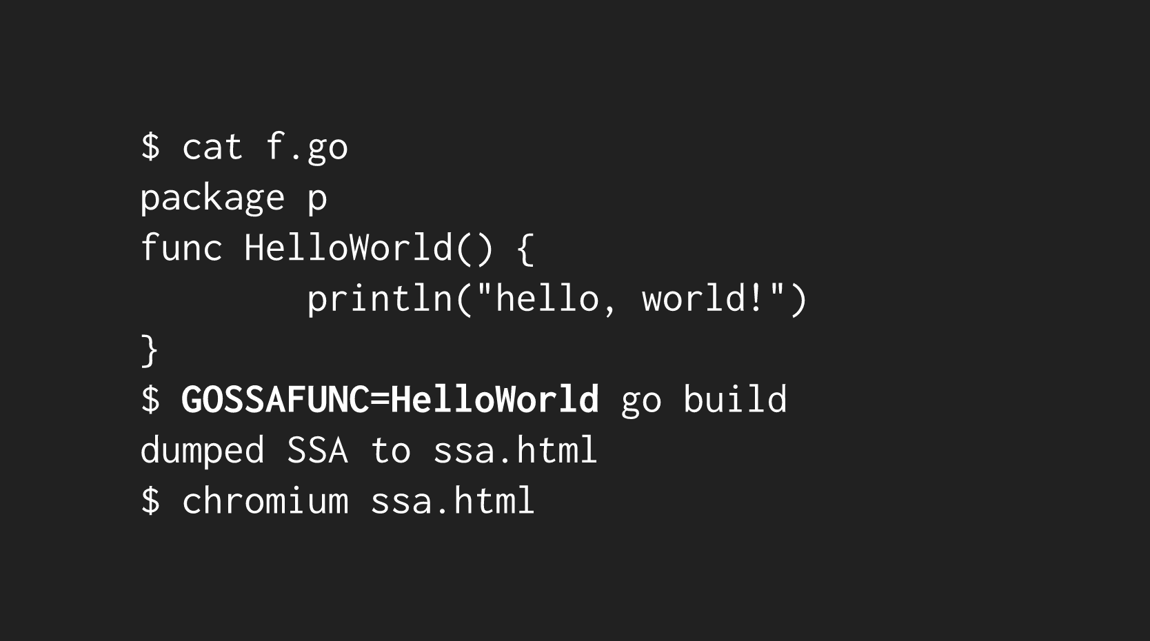 compiler ssa command