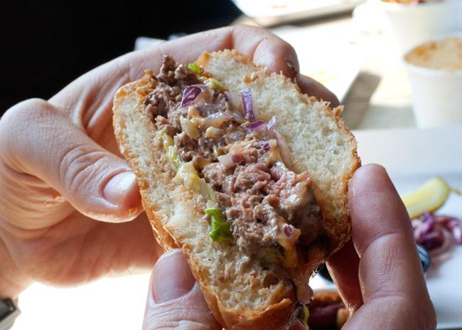 Prairie Fire BBQ burger