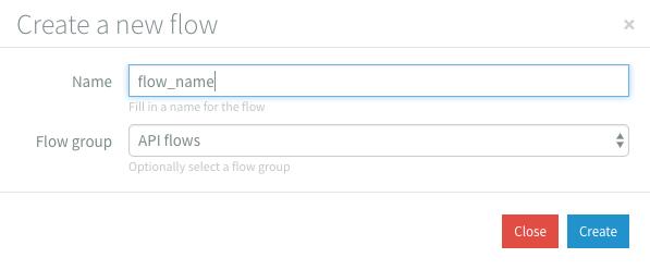 Create Flow Dialog