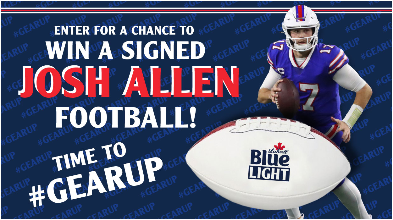 Enter for a Chance to Win a Signed Josh Allen Football!