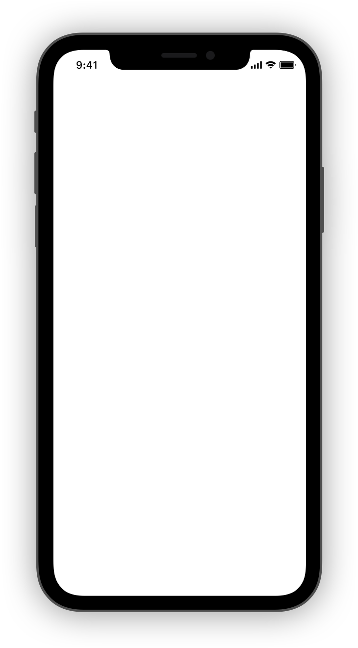 Cell phone with a blank screen.