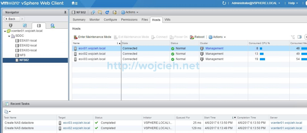 How to add NFS export to VMware ESXi 6.5 - 8