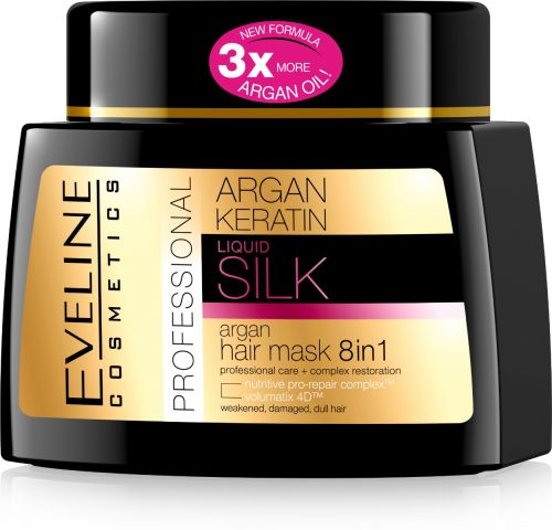 EVELINE ARGAN + LIQUID KERATIN PROFESSIONAL hajmaszk 8 in 1 500 ml