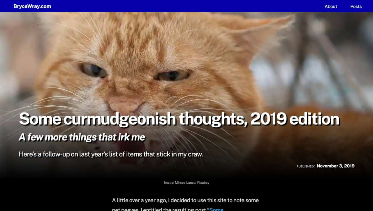 """Screen capture of """"hero image"""" from """"Some curmudgeonish thoughts, 2019 edition,"""" as it appeared before the site redesign"""