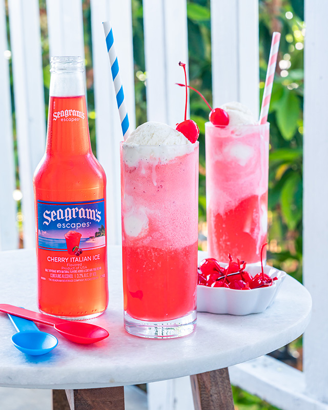 Spiked Cherry Float Recipe Image