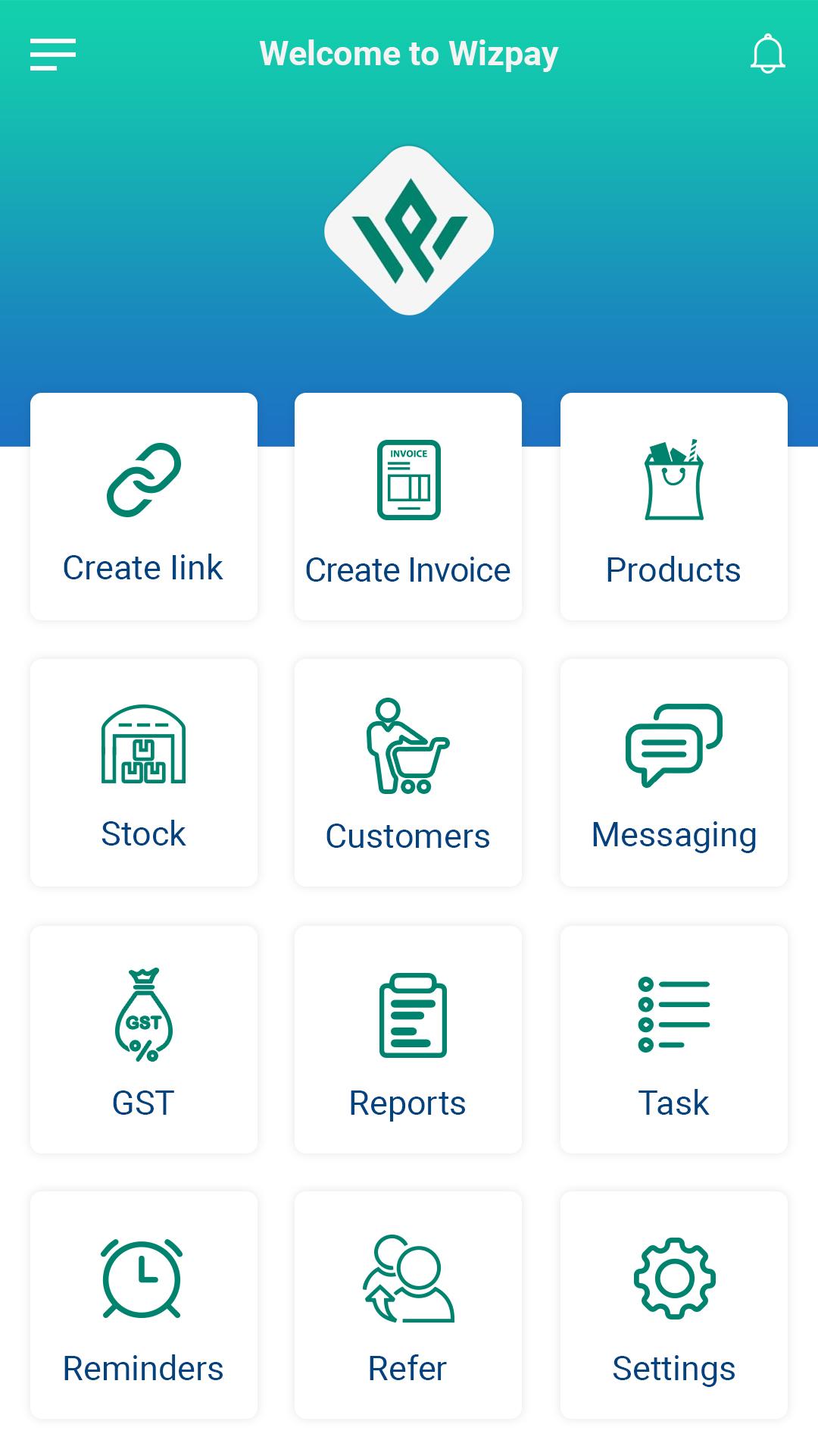 Wizpay Mobile banking, ewallet, POS, inventory management app Screenshot 3