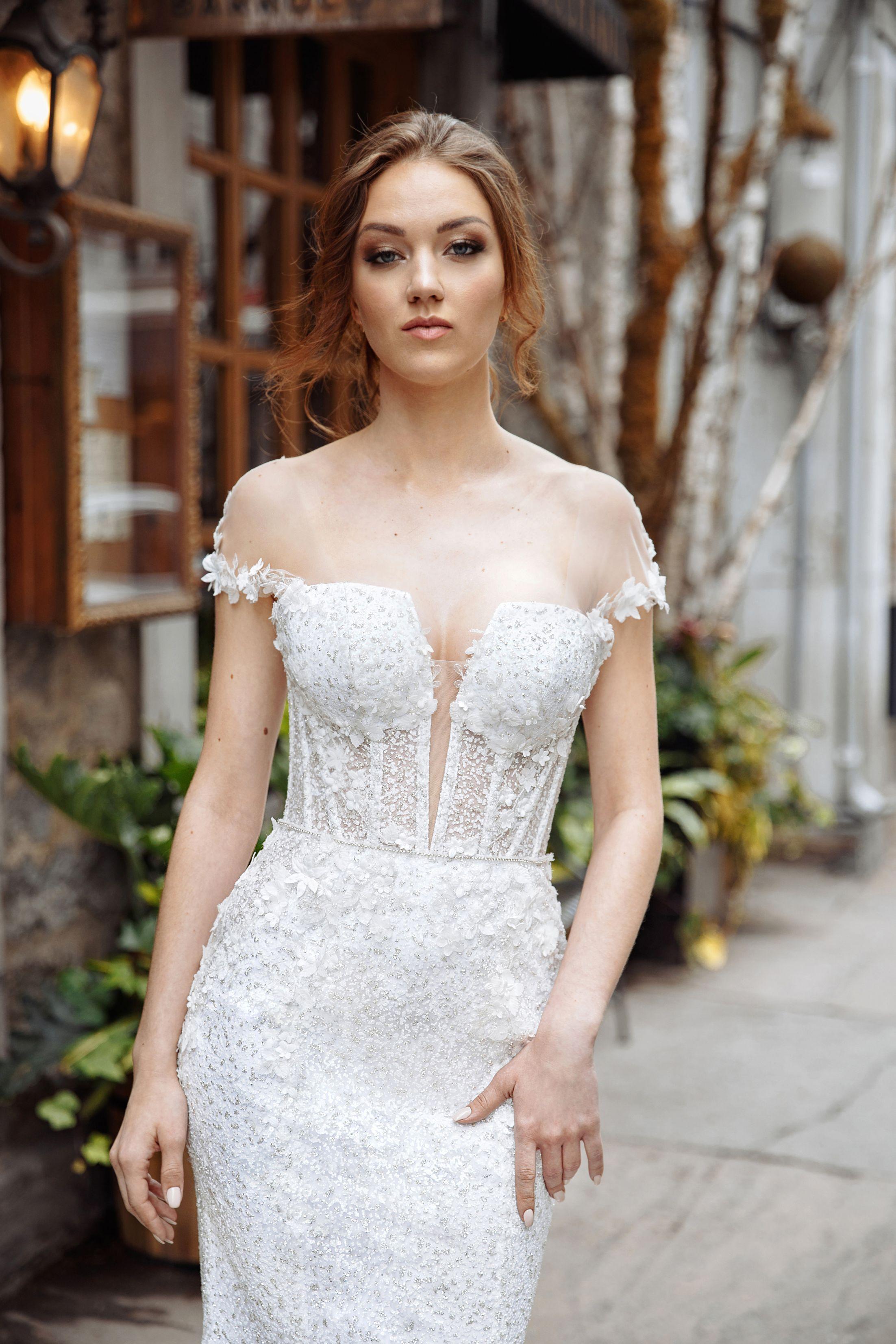 3 d flower wedding dress lilia haute couture