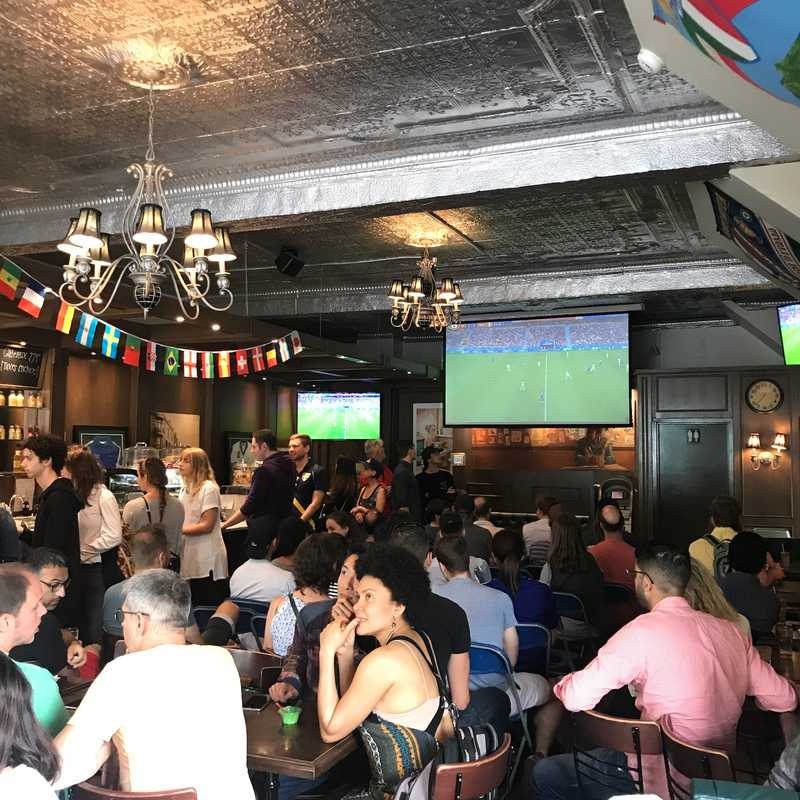 watching the world cup at Cafe Olympico