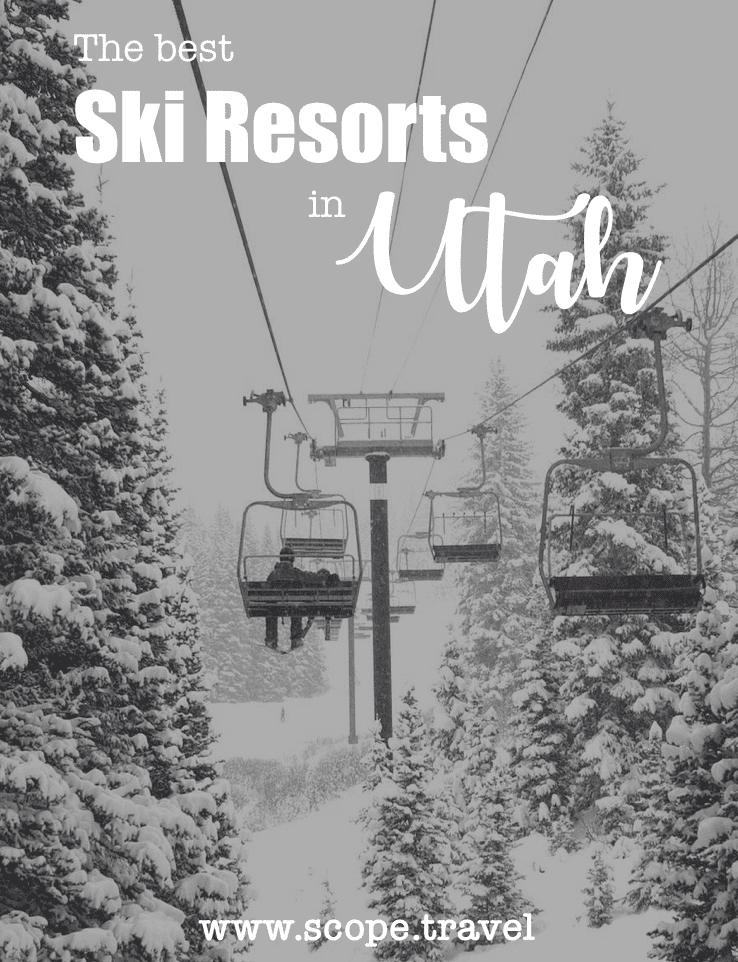 Ski resorts in Utah