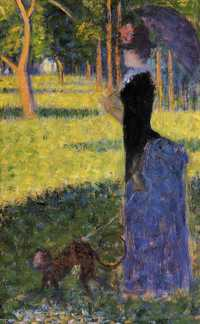 Georges Seurat's Woman with a Monkey caused laughter and amusement at the Eighth Impressionist Exhibition