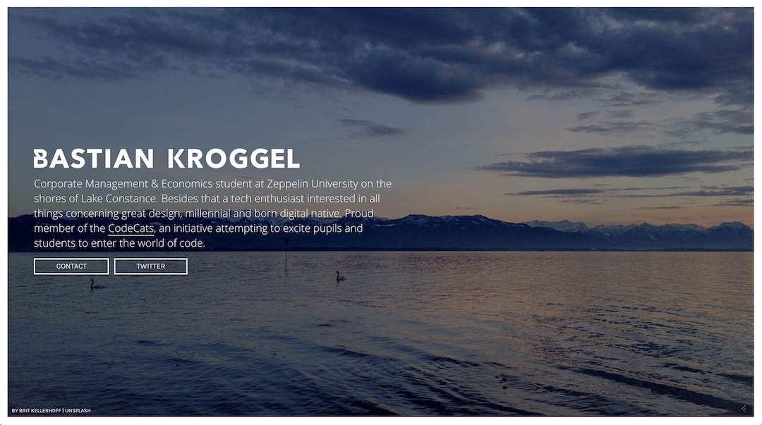 First Iteration of www.bastiankroggel.com