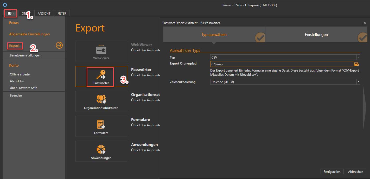 Export from Desktop App