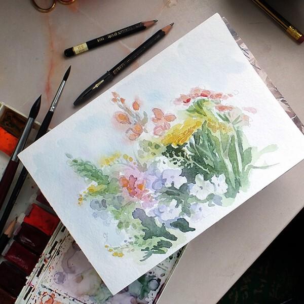 Рисунки, акварель