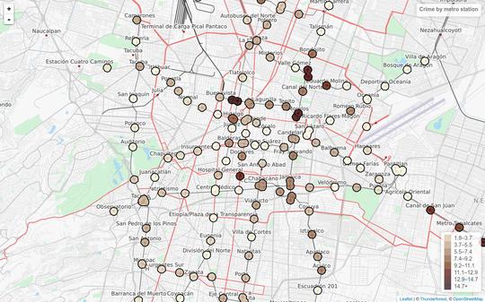 Nezahualcoyotl Mexico Map.How To Create Crime Maps Of Mexico City