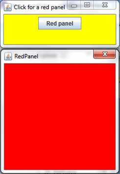 Red panel button