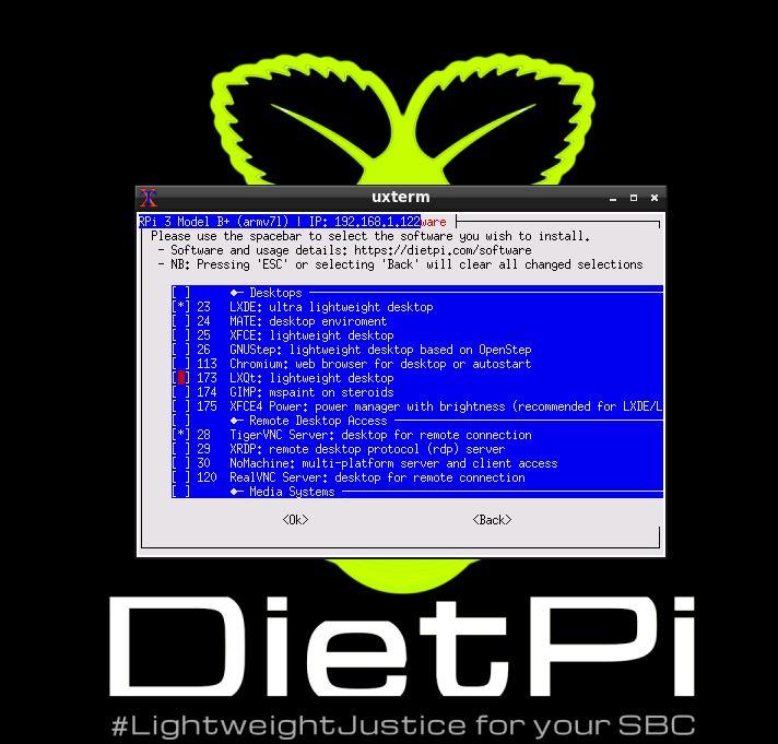 dietpi software