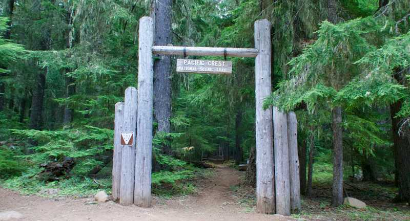 Trail gateway at Forest Road 42