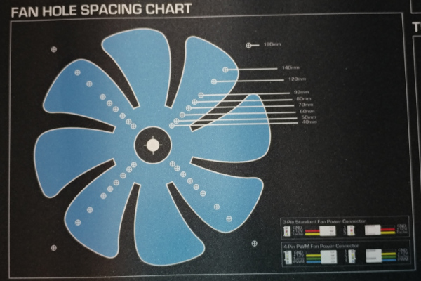 Fan Hole Spacing Chart