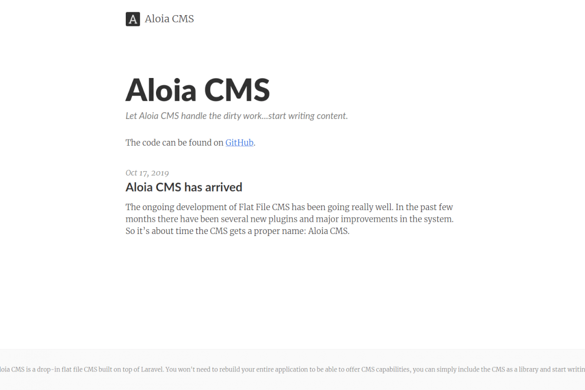 """First version of Aloia cms website"""