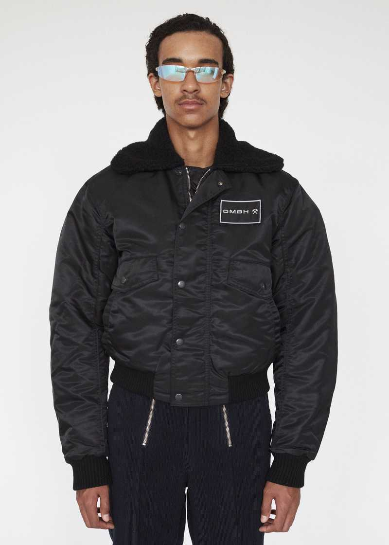 PREM GMBH AW19 PILOT JACKET BLACK PREVIEW