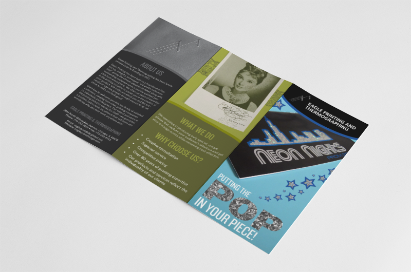 Outer brochure panels