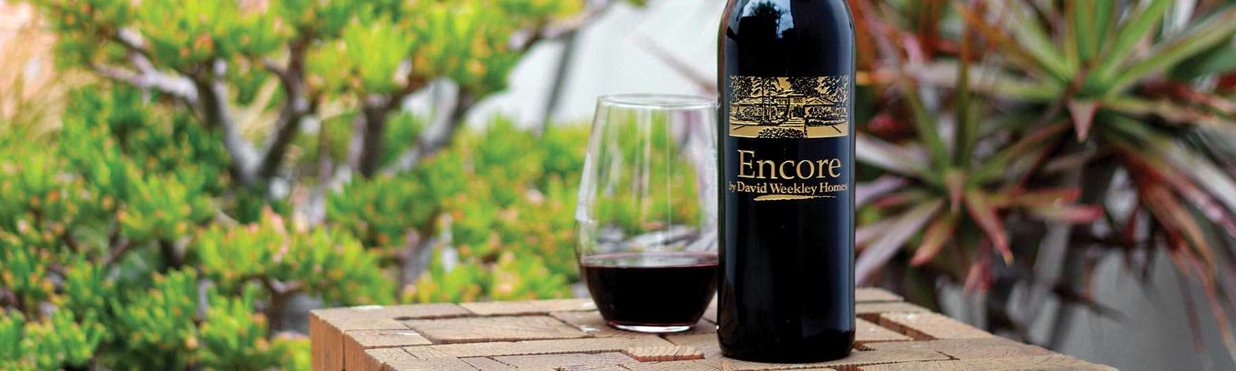 Custom engraved real estate marketing wine gift by Etching Expressions