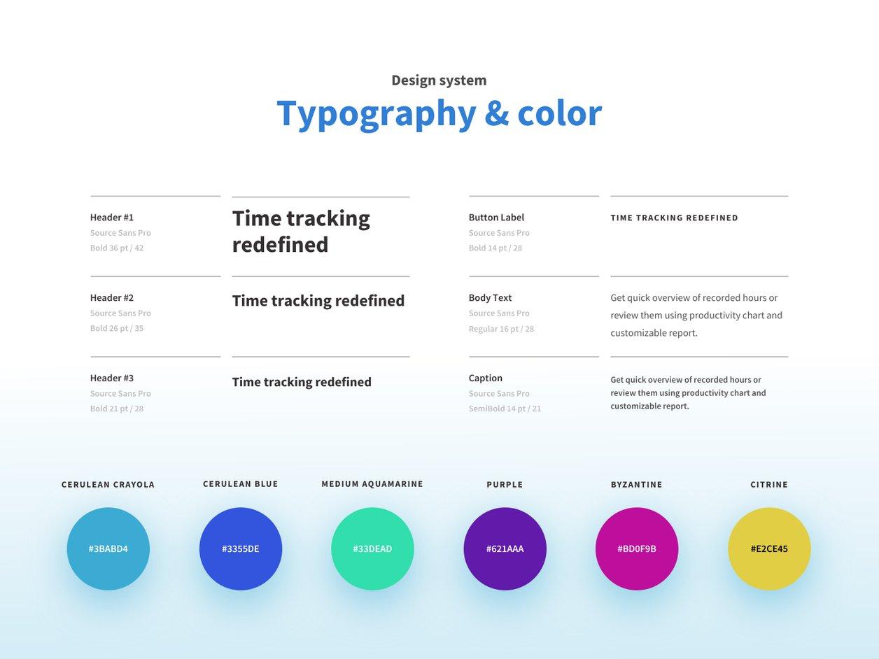 UI Color Palette - UX Design | Tahometer