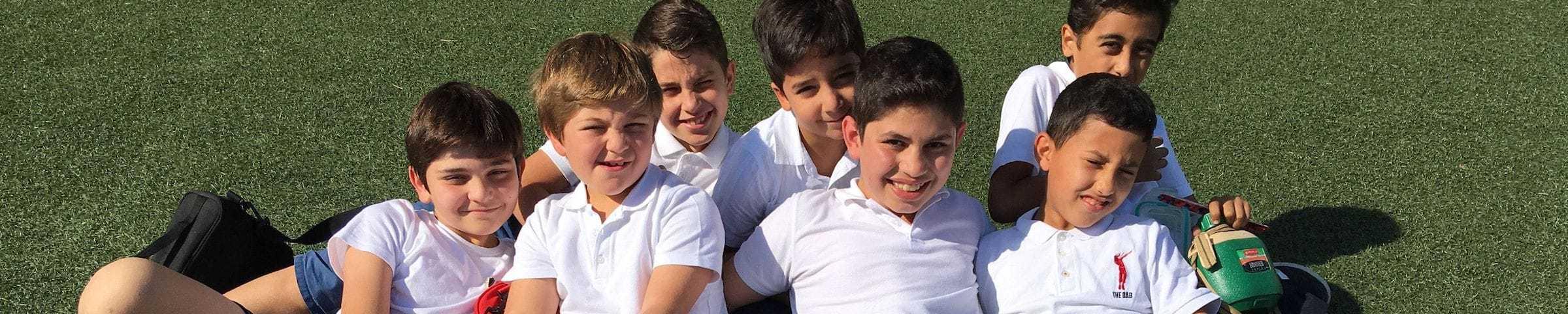 boys on football pitch