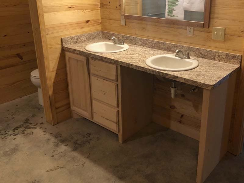 bathroom vanity with cut out space and accessible sink after remodel by CorHome