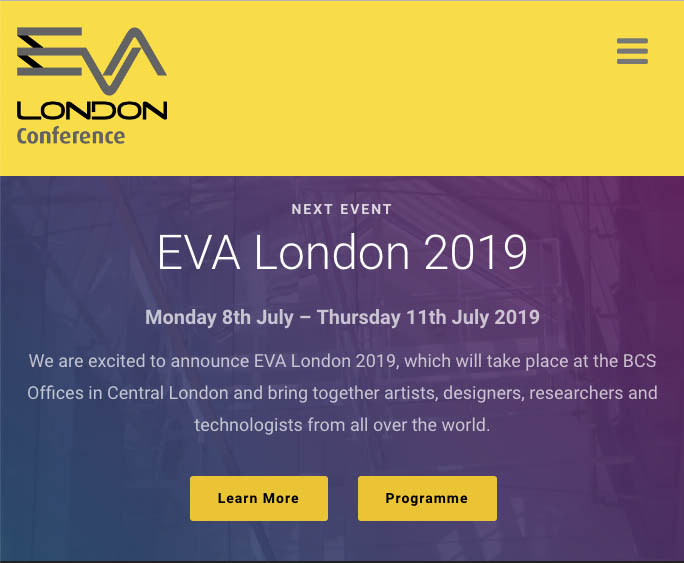 EVA website screenshot