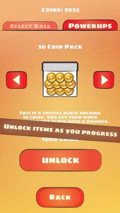 Unlock items as you progress.