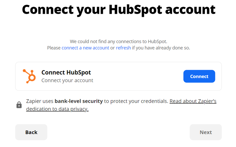 Connect Zapier with HubSpot CRM