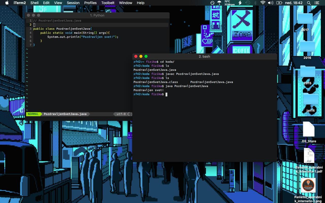 Slika 4: OSX in Linux Java