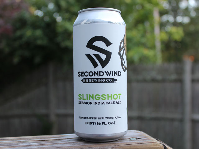Slingshot, a session IPA brewed by Second Wind Brewing Company