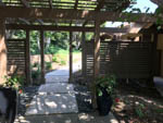 custom fence and pergola back view