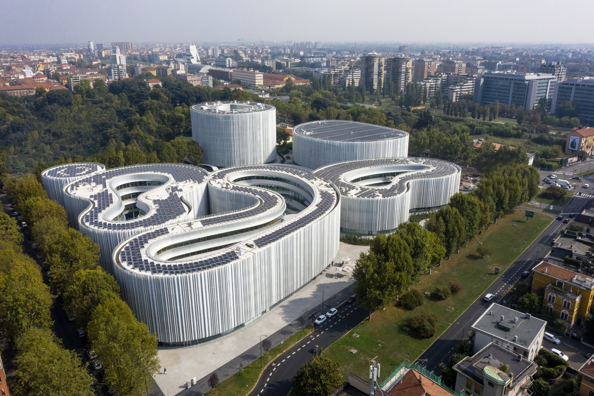 Aerial view of the SDA Bocconi campus in Milan