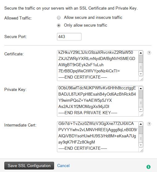 Rackspace Load Balancer SSL Termination