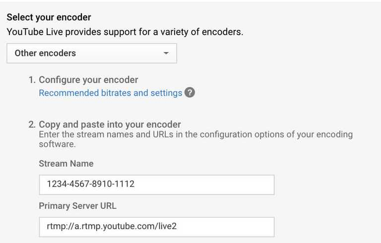 livestream encoder selection