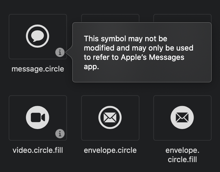 Use-as-is symbols