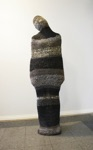 "Anna-Maria Saar, Estonia. ""Brides kidnapping bag"" 2013. Woolen yarn, height 170cm"