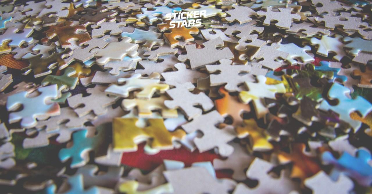 Ein Puzzle als kreatives Hochzeitsbuch.