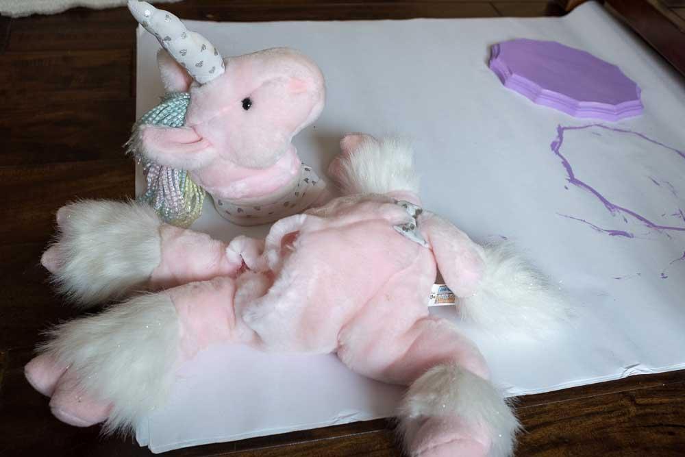 decapitated stuffed unicorn