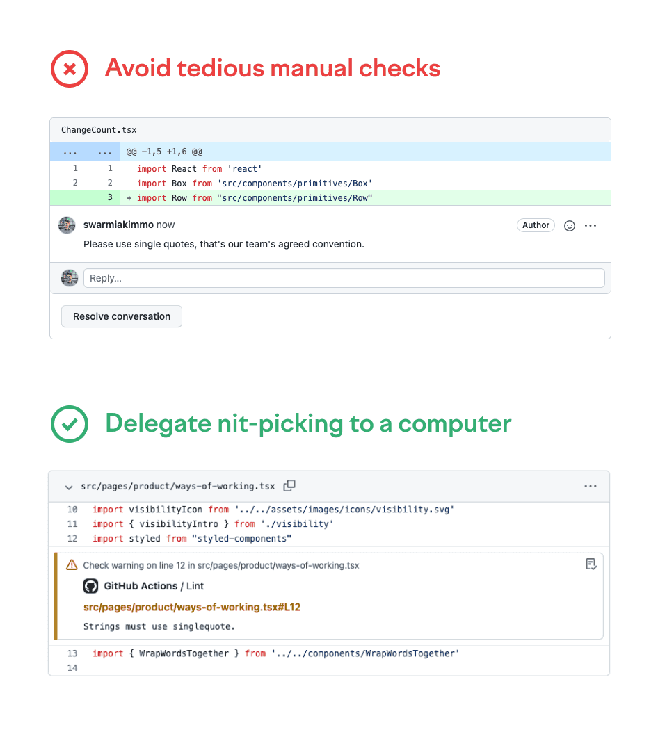 delegate nitpicking to a computer