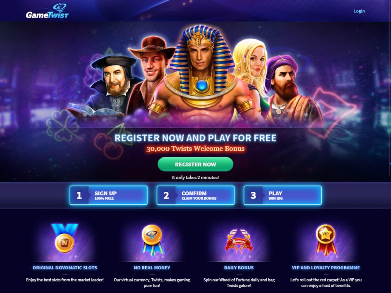 Social Casino Marketing Website