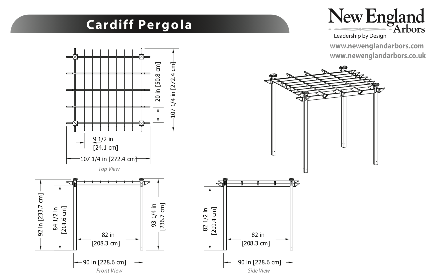 Alove Pergola Specifications