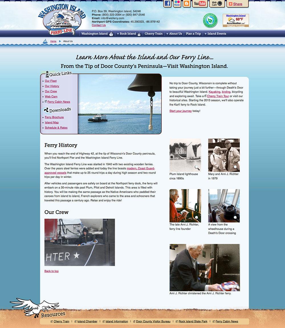 Washington Island Ferry Website 2