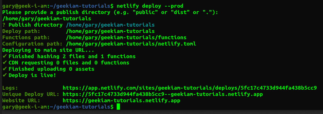 netlify production deploy