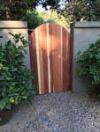 arch-top wood gate