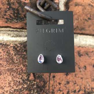 Pilgrim Stud Tear Drop Crystal Earring