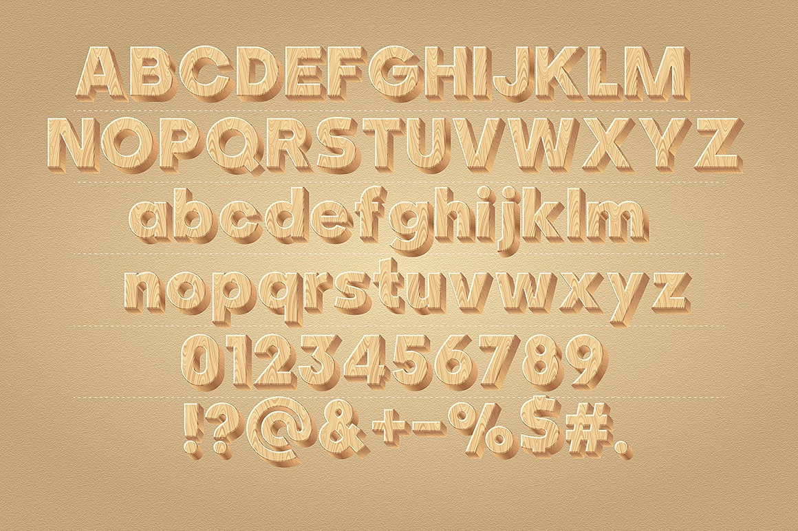 Wooden Alphabet images/1-3D-wood-typography_2.jpg